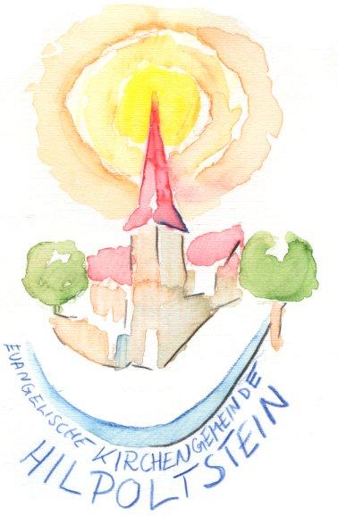 Das Kirchenlogo als Aquarell
